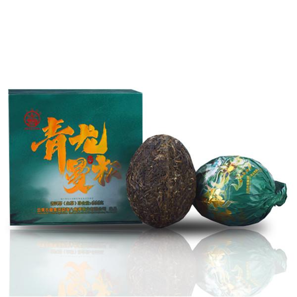八角亭2021年 青龙曼松 龙团生 普洱茶生茶 666克/盒